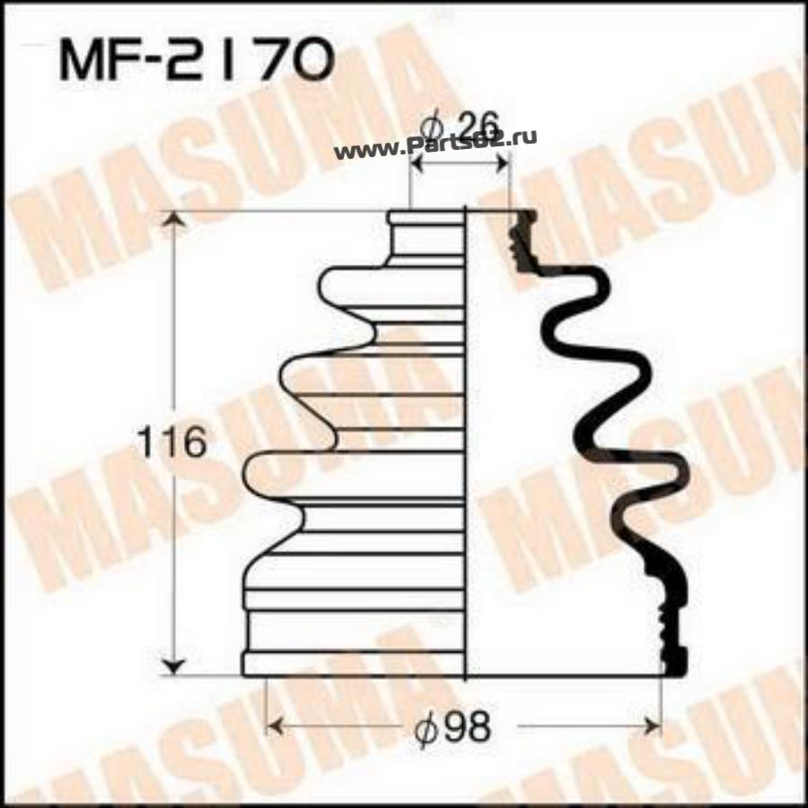 Пыльник ШРУСа MF-2170