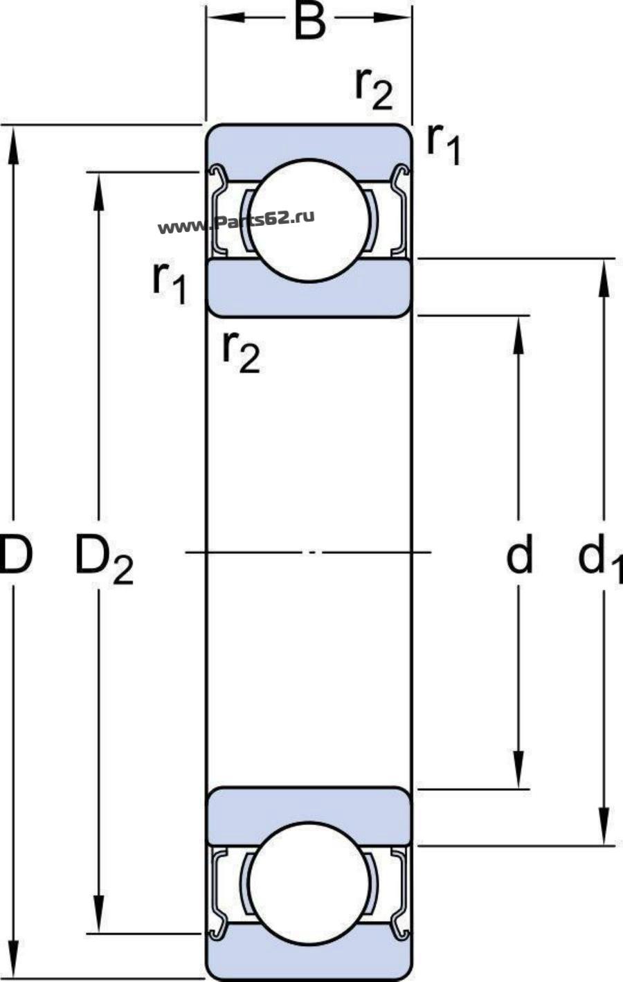 Подшипник 624-2Z (SKF)