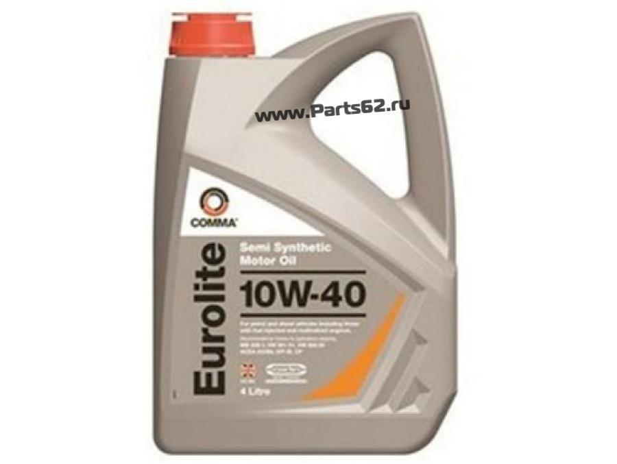 Масло моторное полусинтетическое Eurolite 10W-40, 4л