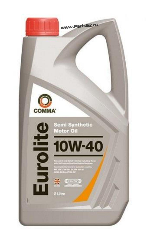 Масло моторное полусинтетическое Eurolite 10W-40, 2л