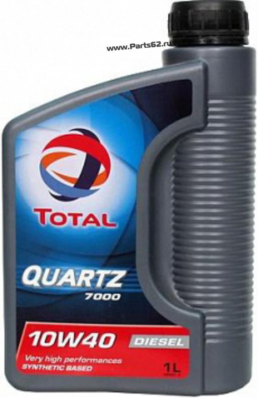 Масло моторное полусинтетическое QUARTZ 7000 Diesel 10W-40, 1л