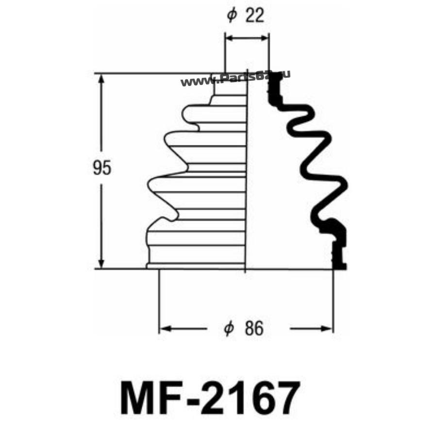 """Привода пыльник """"Masuma"""" MF-2167"""