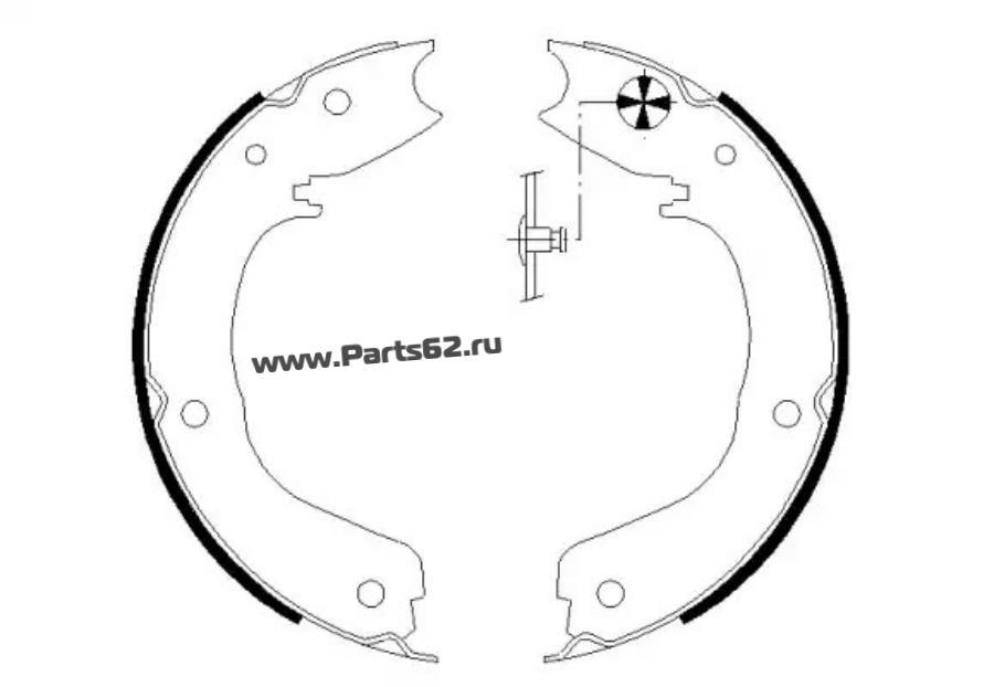 Комплект тормозных колодок, стояночная тормозная система