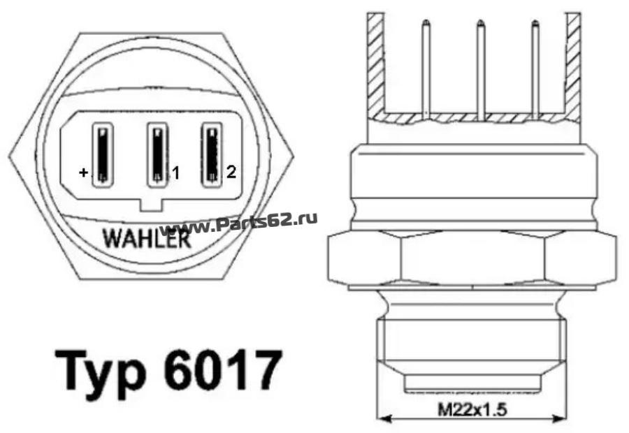 Термовыключатель, вентилятор радиатора; Термовыключатель, вентилятор радиатора