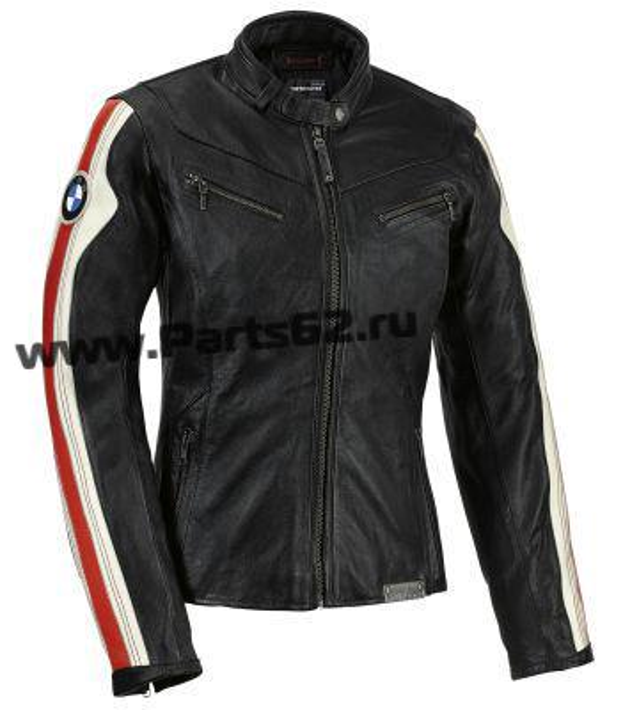 Женская кожаная мотокуртка BMW Motorrad Club Leather Jacket Black/White