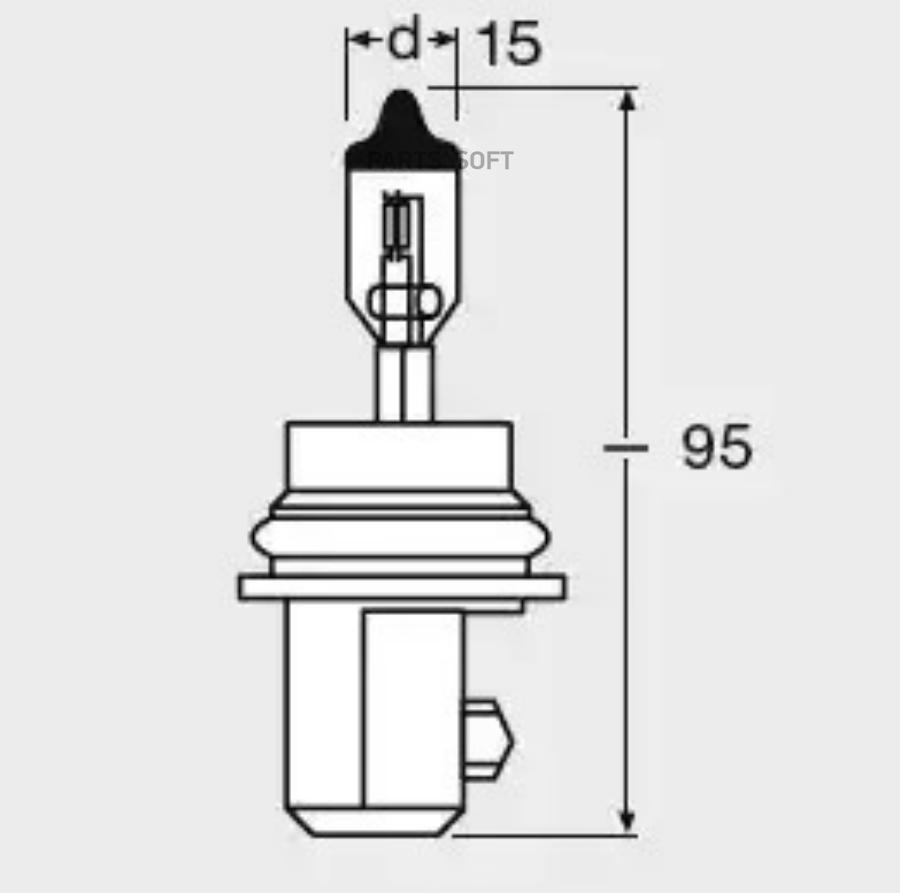 Лампа г/с HB5 (65/55W) PX29t 12V 9007 4050300148816 *OSRAM