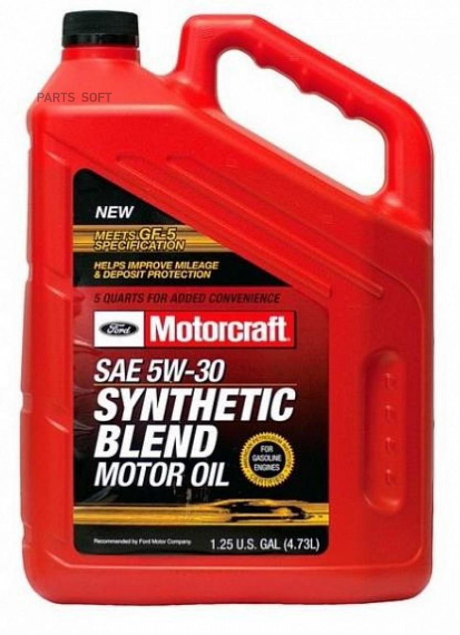 Масло моторное полусинтетическое Synthetic Blend Motor Oil 5W-30, 5л