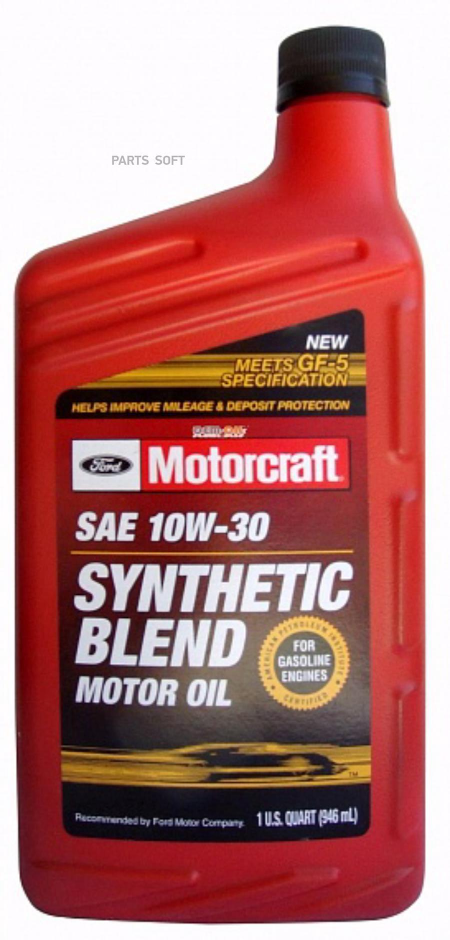 Масло моторное полусинтетическое Premium Synthetic Blend 10W-30, 1л