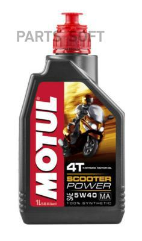 Масло моторное синтетическое Scooter Power 4T 5W-40, 1л