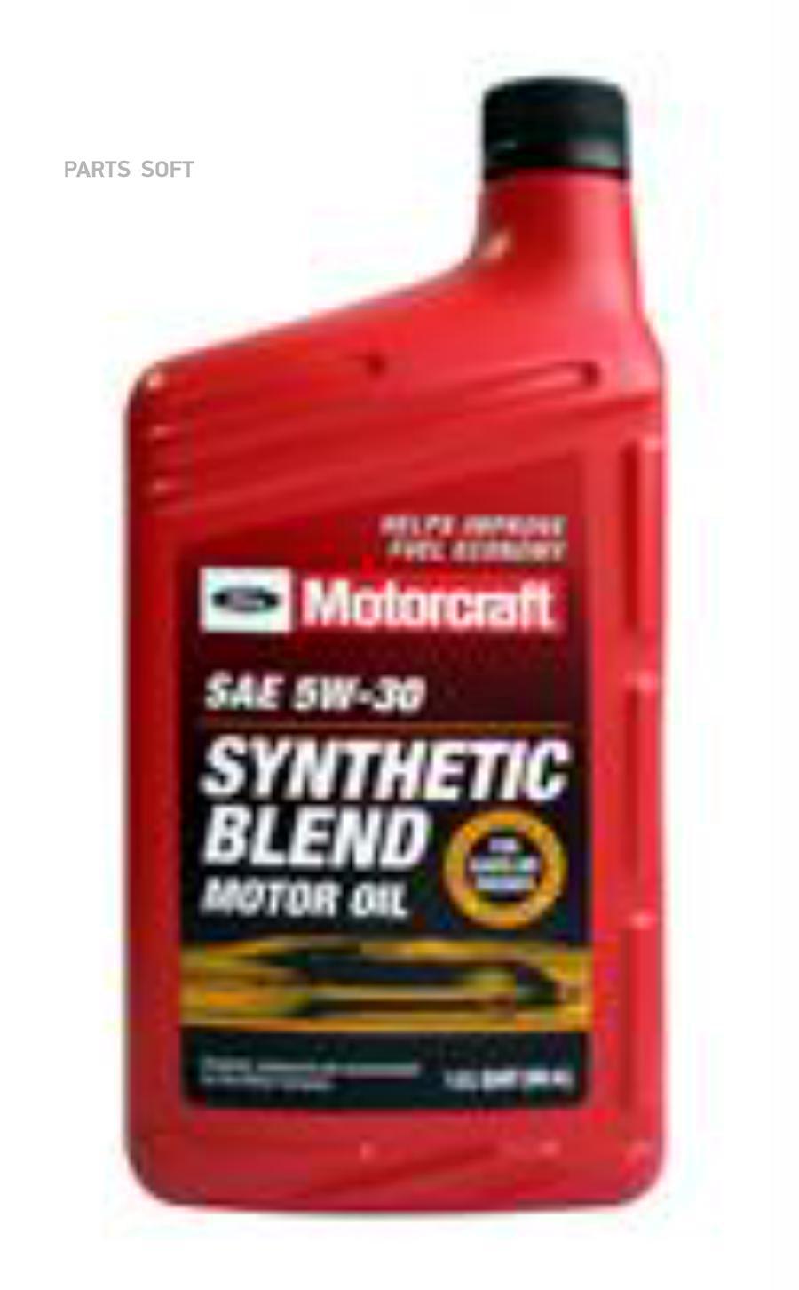 Масло моторное полусинтетическое Synthetic Blend Motor Oil 5W-30, 1л