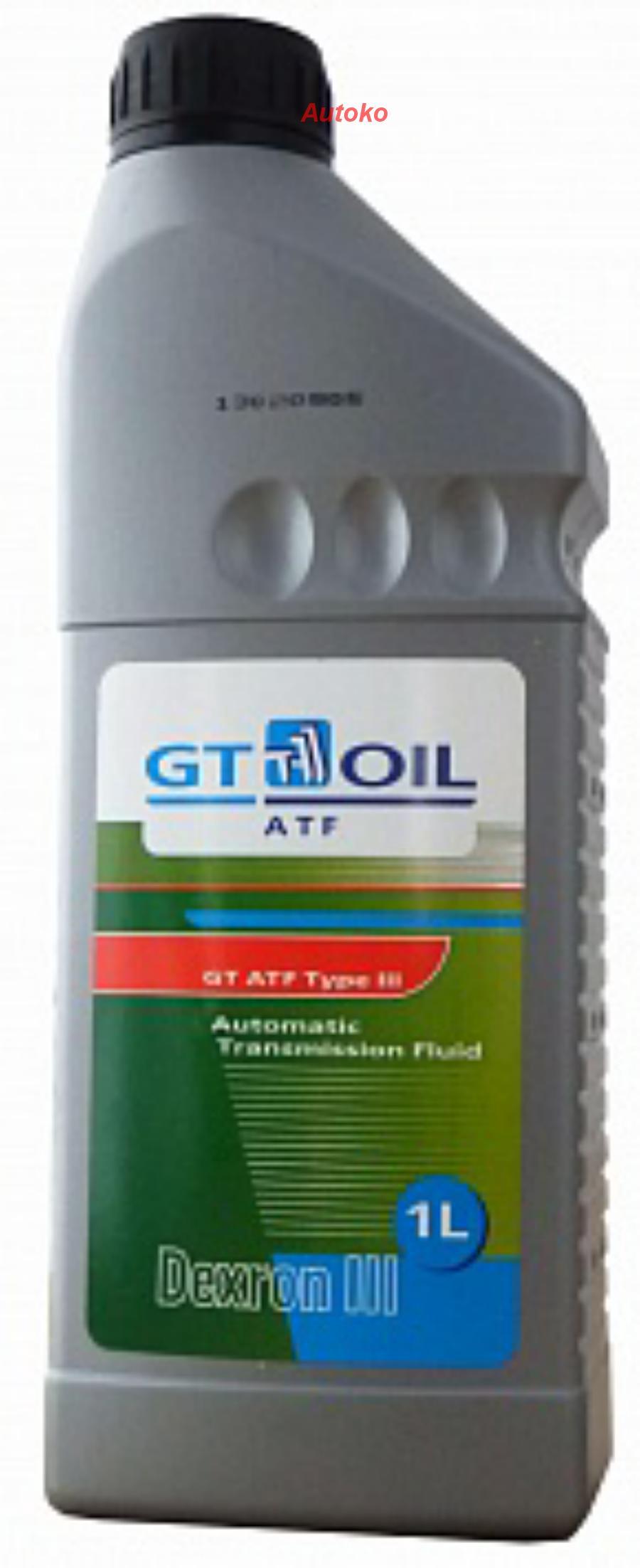 Масло трансм GT ATF Type III Dexron III (H) (1л) Корея