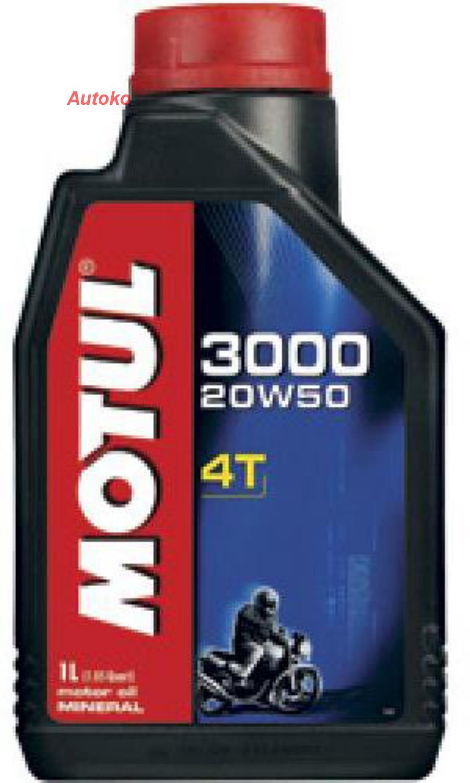 Масло моторное минеральное 3000 4T 20W-50, 1л