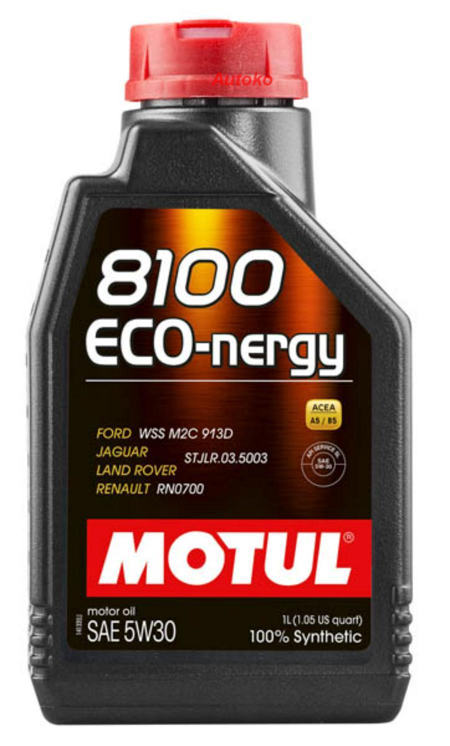 Масло моторное синтетическое 8100 ECO-NERGY 5W-30, 1л
