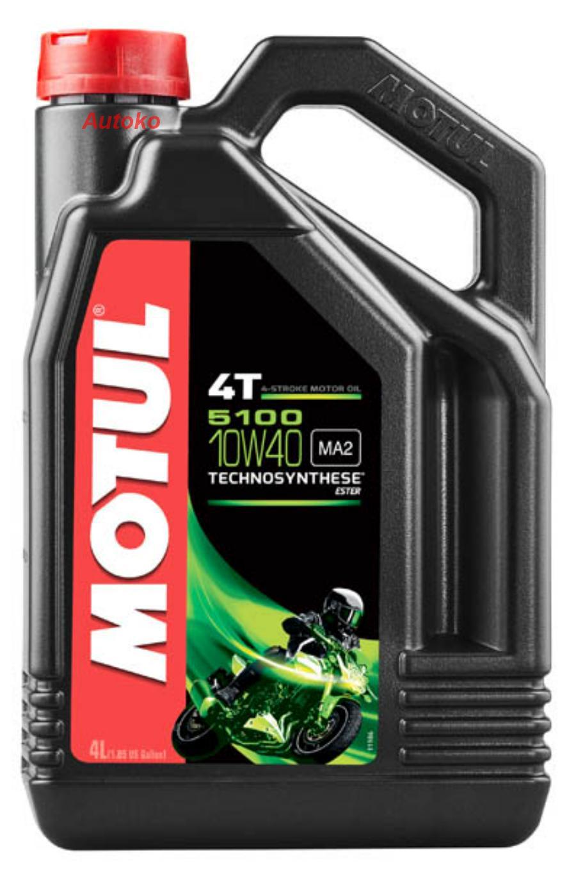 Масло моторное полусинтетическое 5100 4T 10W-40, 4л