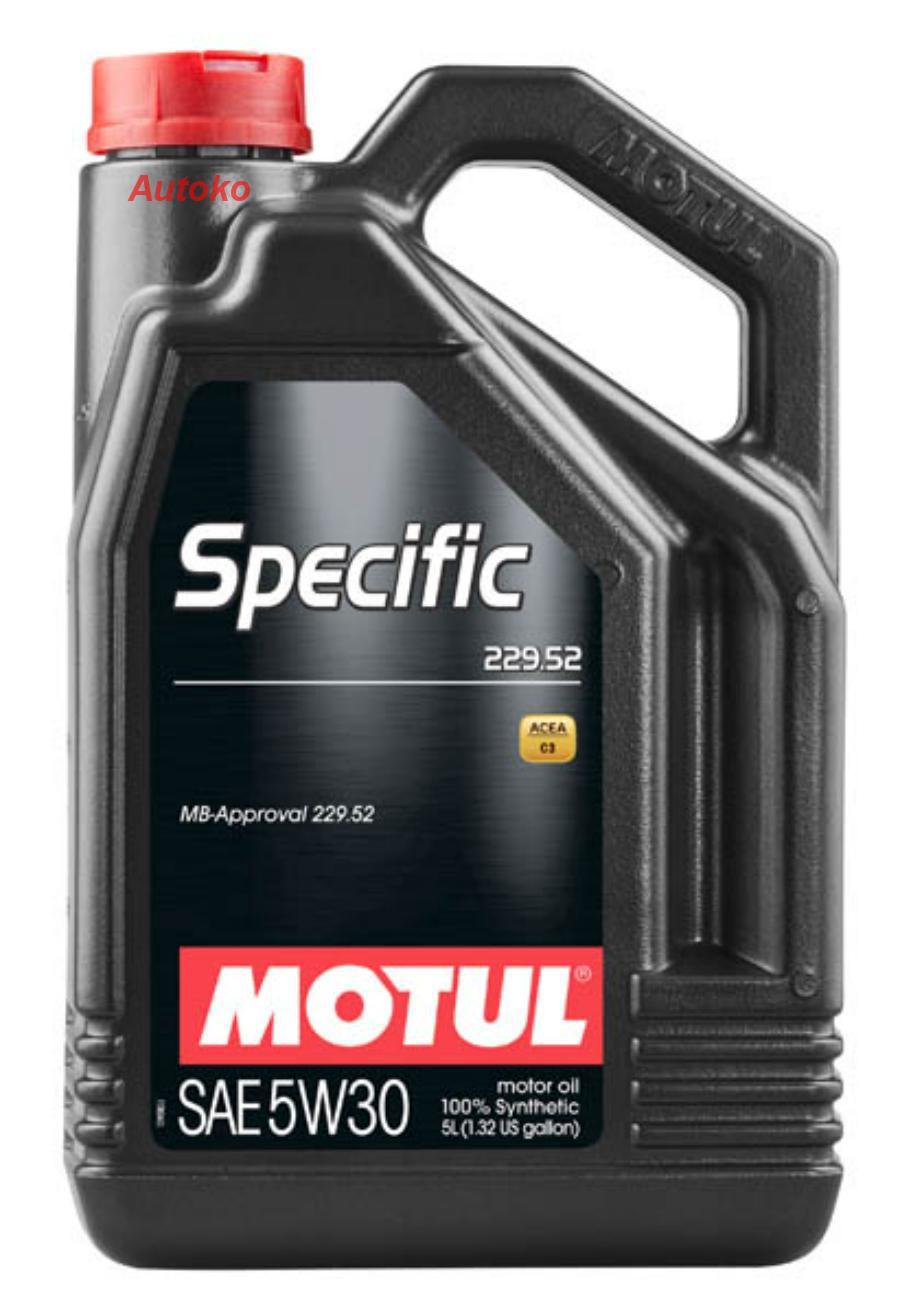 Масло моторное синтетическое Specific MB 229,52 5W-30, 5л