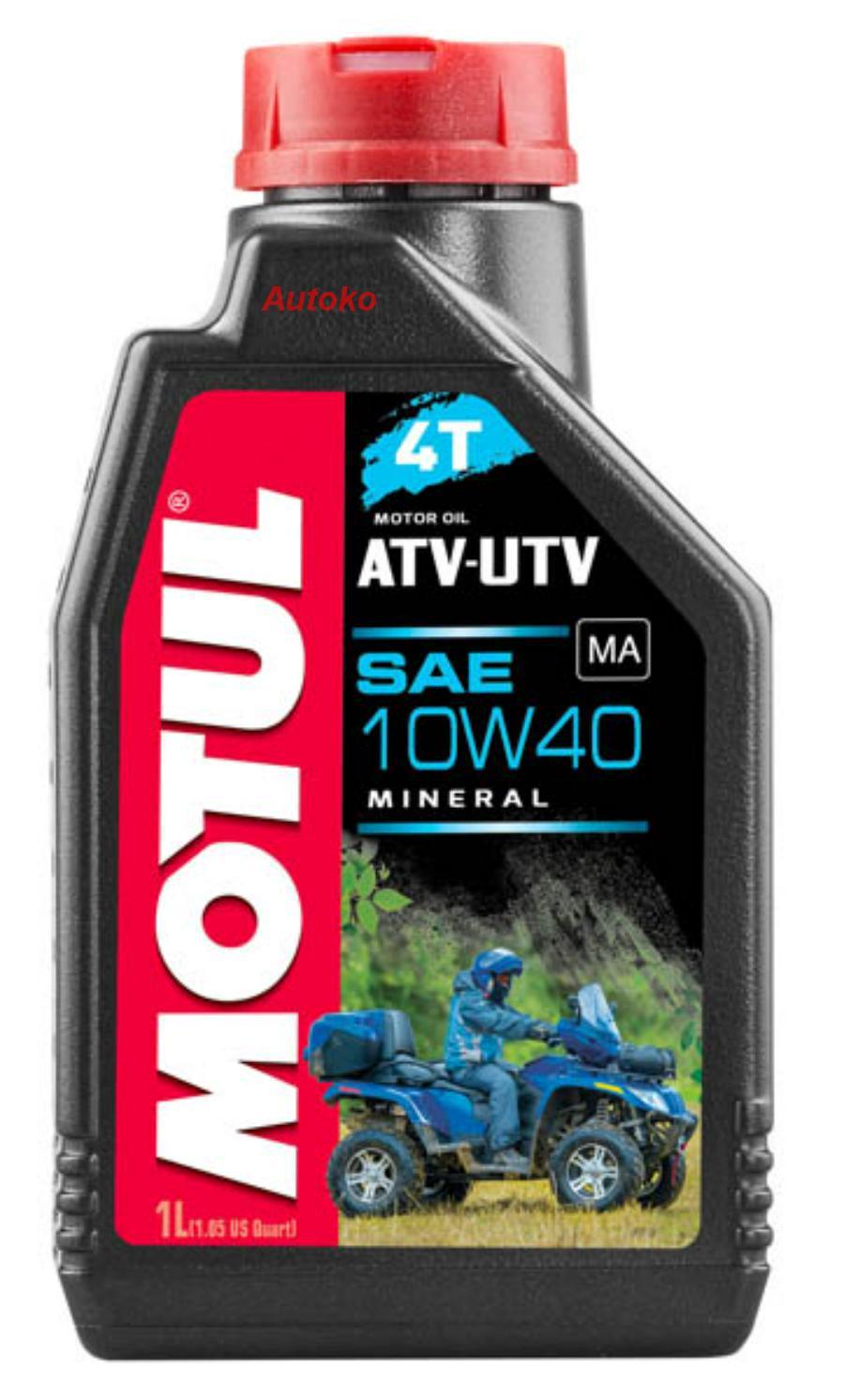 Масло моторное минеральное ATV-UTV 4T 10W-40, 1л