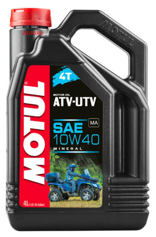 Масло моторное минеральное ATV-UTV 4T 10W-40, 4л