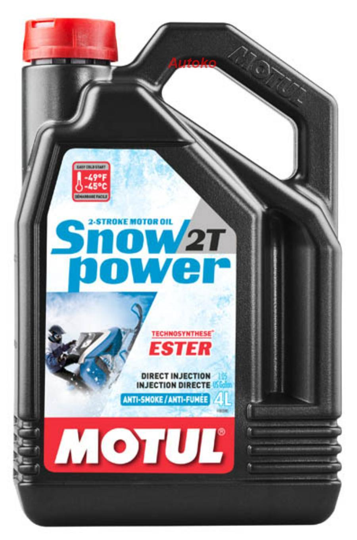 Масло моторное полусинтетическое Snowpower 2T, 4л