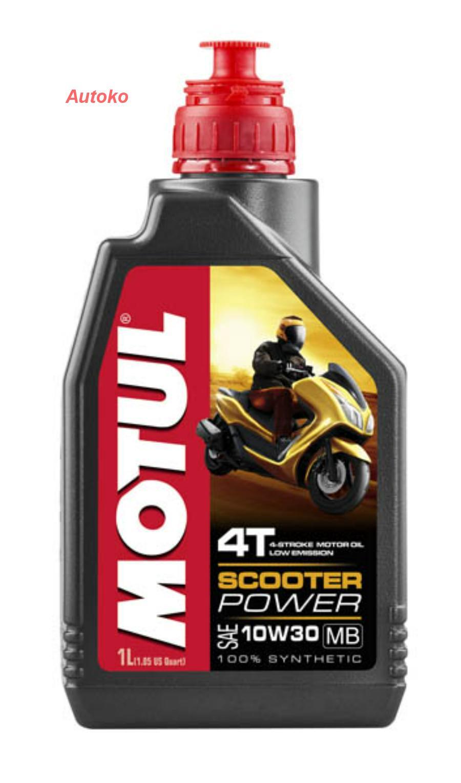 Масло моторное полусинтетическое Scooter Expert 4T 10W-40, 1л