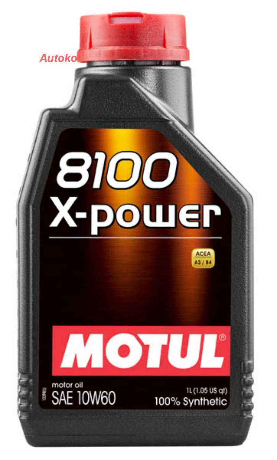 Масло моторное синтетическое 8100 X-Power 10W-60, 1л
