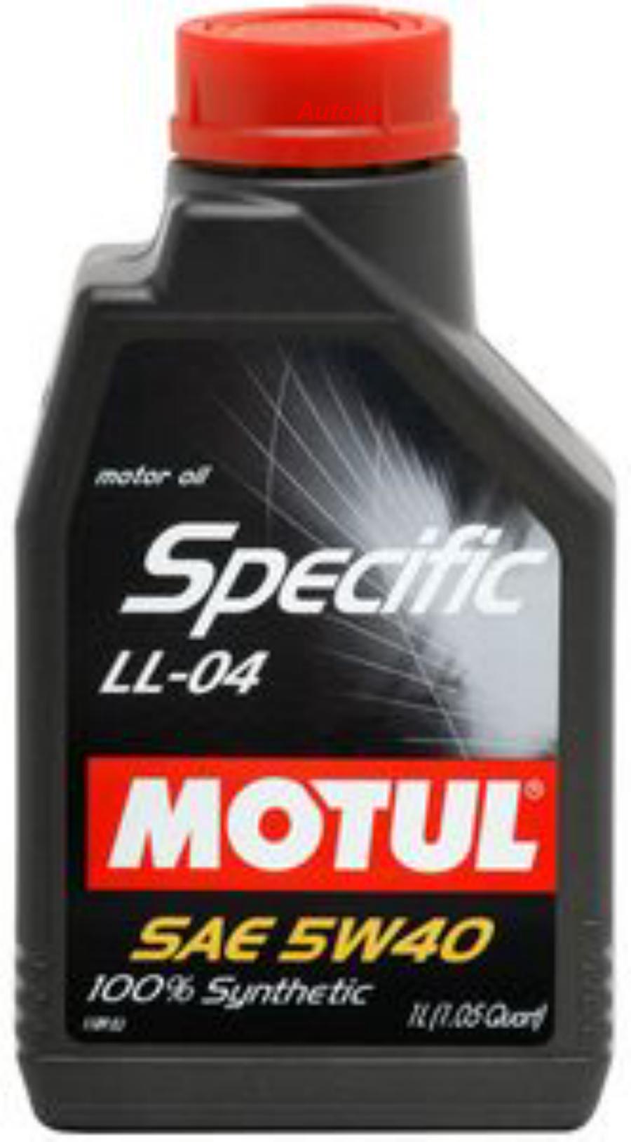Масло моторное синтетическое Specific LL-04 5W-40, 1л