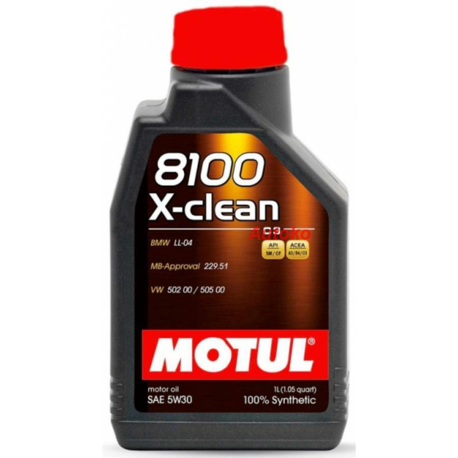 Масло моторное синтетическое 8100 X-CLEAN + 5W-30, 1л