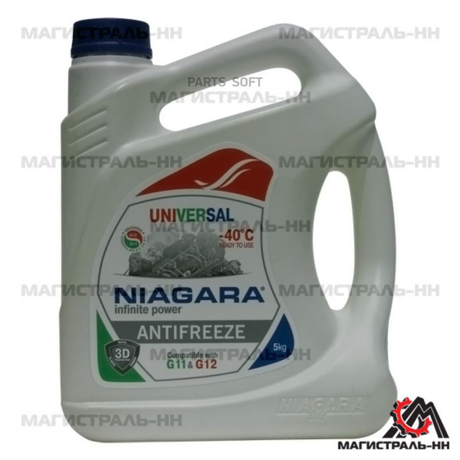 Антифриз Niagara Universal (универсальный), 5 л