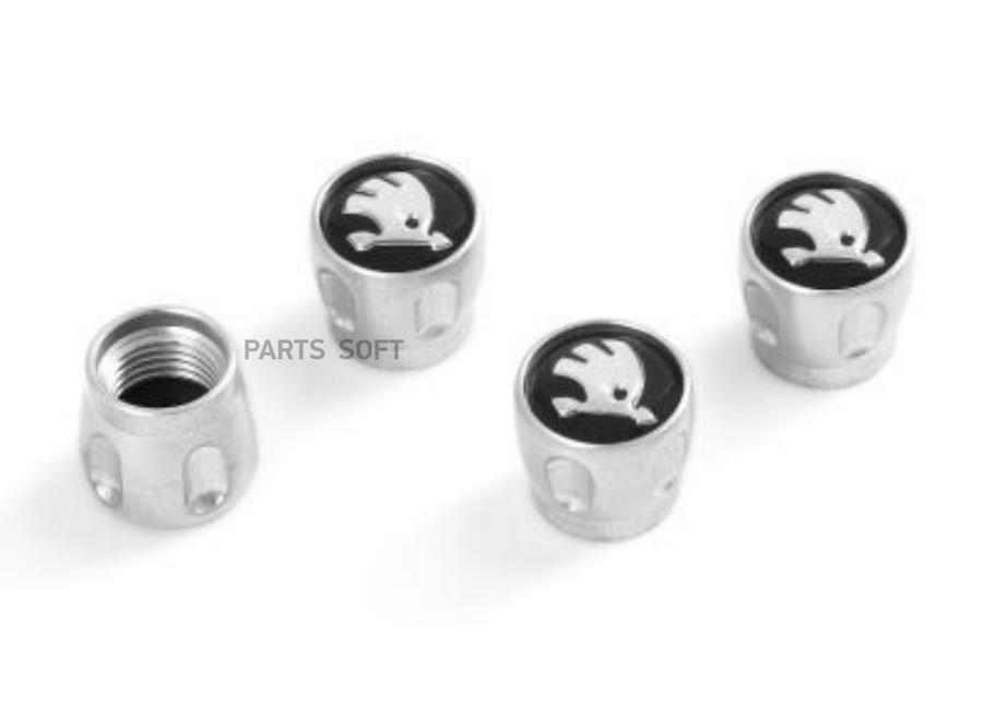 Набор из 4-х колпачков ниппелей Skoda Valve Stem Caps