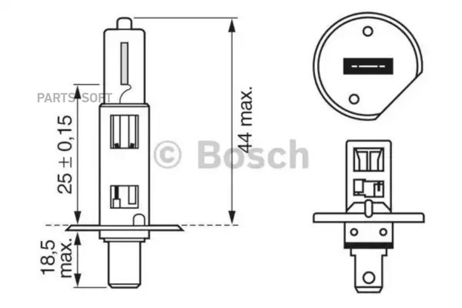 Лампа фары 12V H1 55W BOSCH (1987302011)