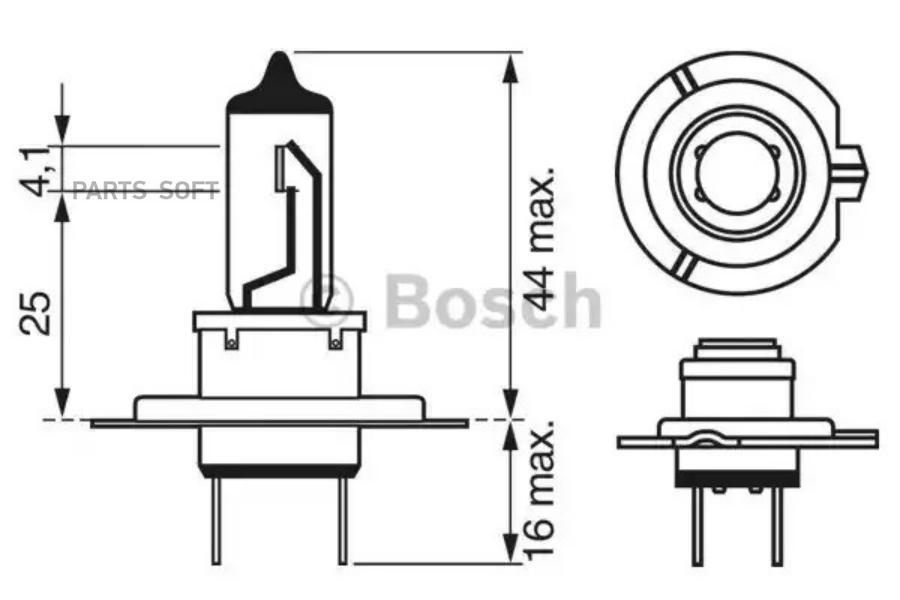 Лампа фары 12V H7 55W BOSCH (1987302071)