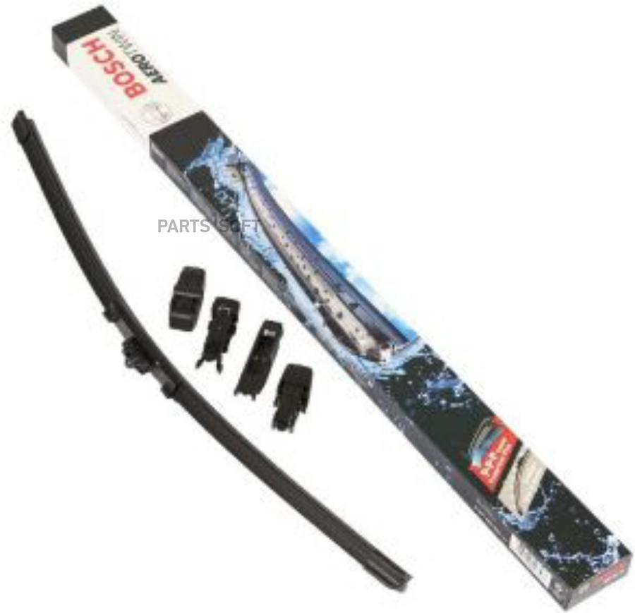 Щетка стеклоочистителя универсальная бескаркасная 525mm,10 адаптеров, Pilenga