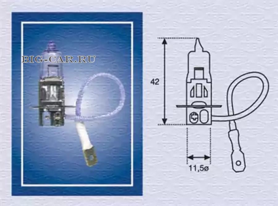 Лампа накаливания, противотуманная фара; Лампа накаливания