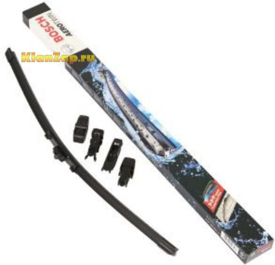 Щетка стеклоочистителя универсальная бескаркасная 350mm,10 адаптеров, Pilenga