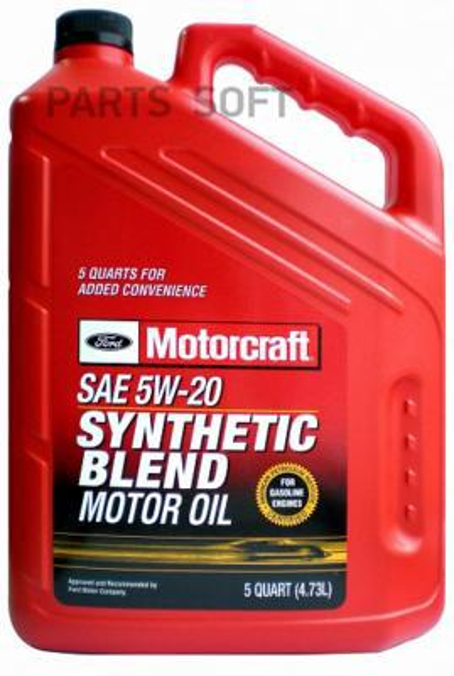Масло моторное синтетическое Premium Synthetic Blend Motor Oil 5W-20, 4,73л
