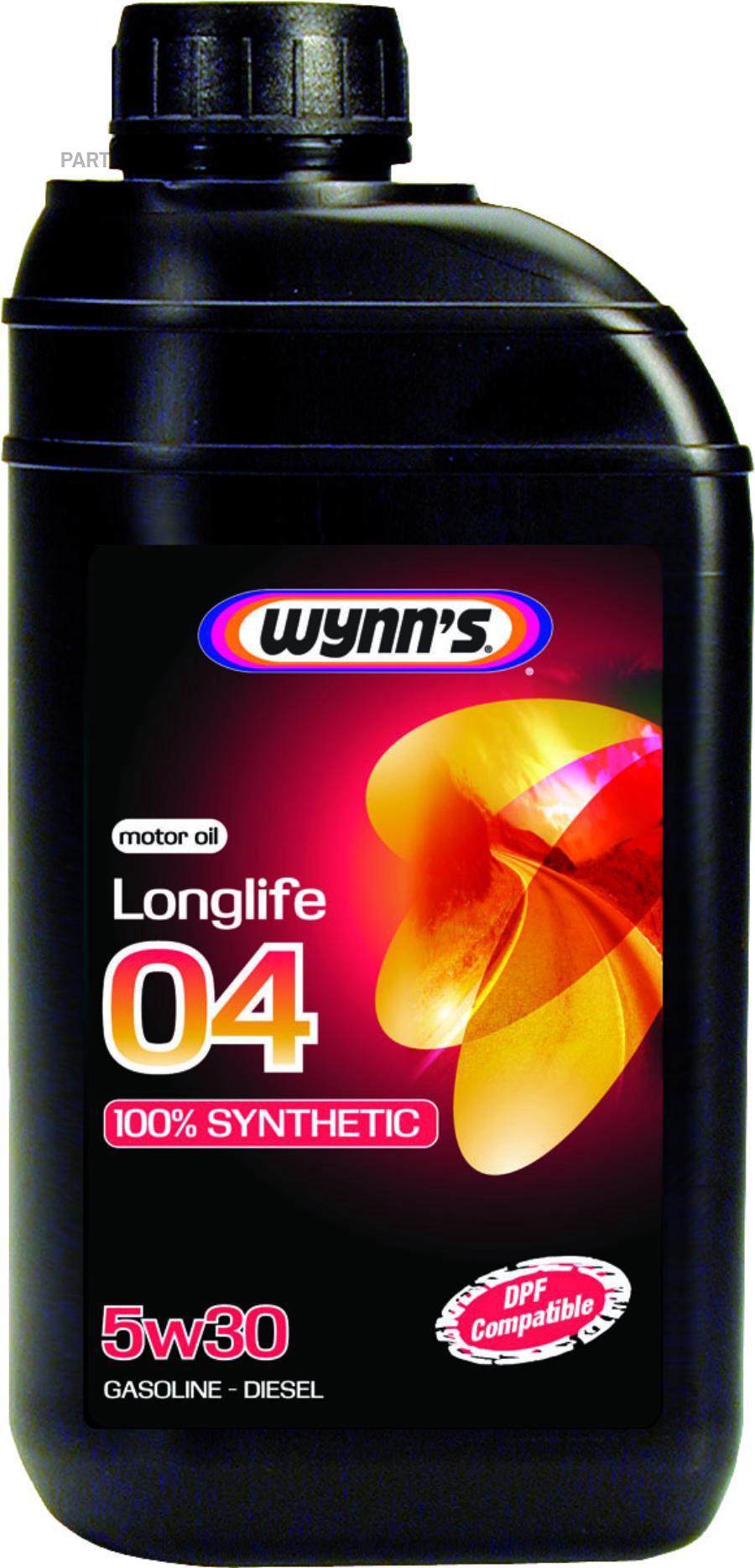 Моторное масло синтетическое WYNNS LONGLIFE 04 5W30, 1л