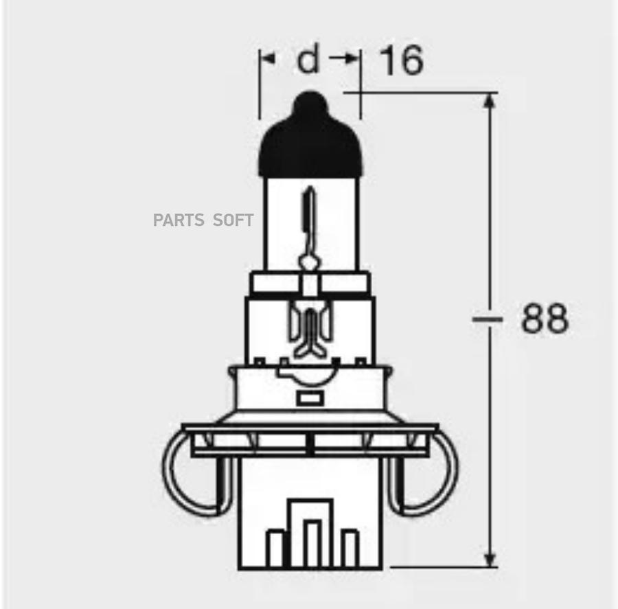 Лампа накаливания, фара дальнего света