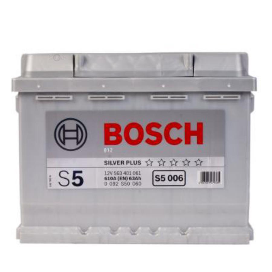 Аккумулятор Бош 63 S5 прямой полярности BOSCH