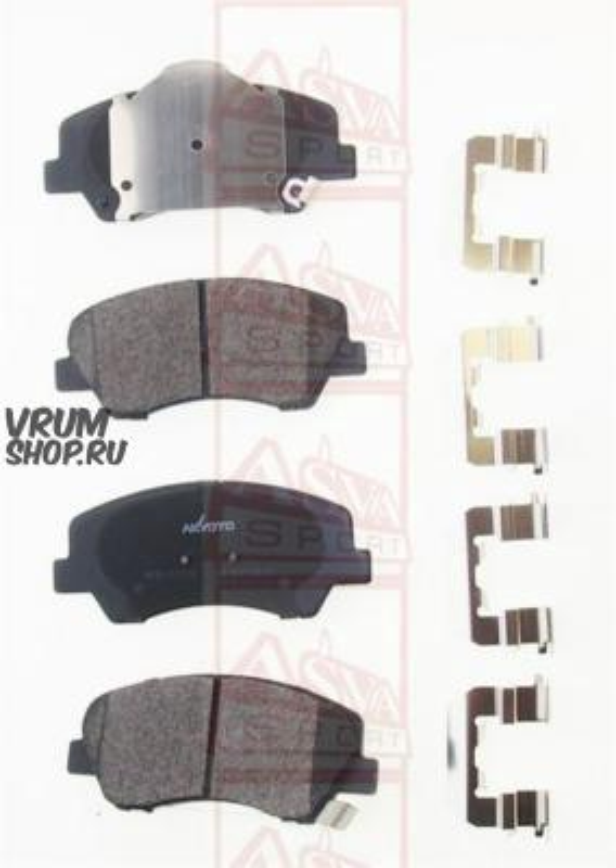 Торм. колодки дисковые передн. Hyundai Solaris IV (RB) 10-, Kia Rio III (UB), IV (YB, SC, FB) 17- (M2625348)