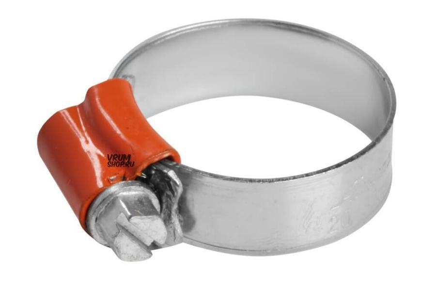 Хомут 20-32/11,7 мм, червячный, усиленный, W1 (оцинк.), 1 шт.