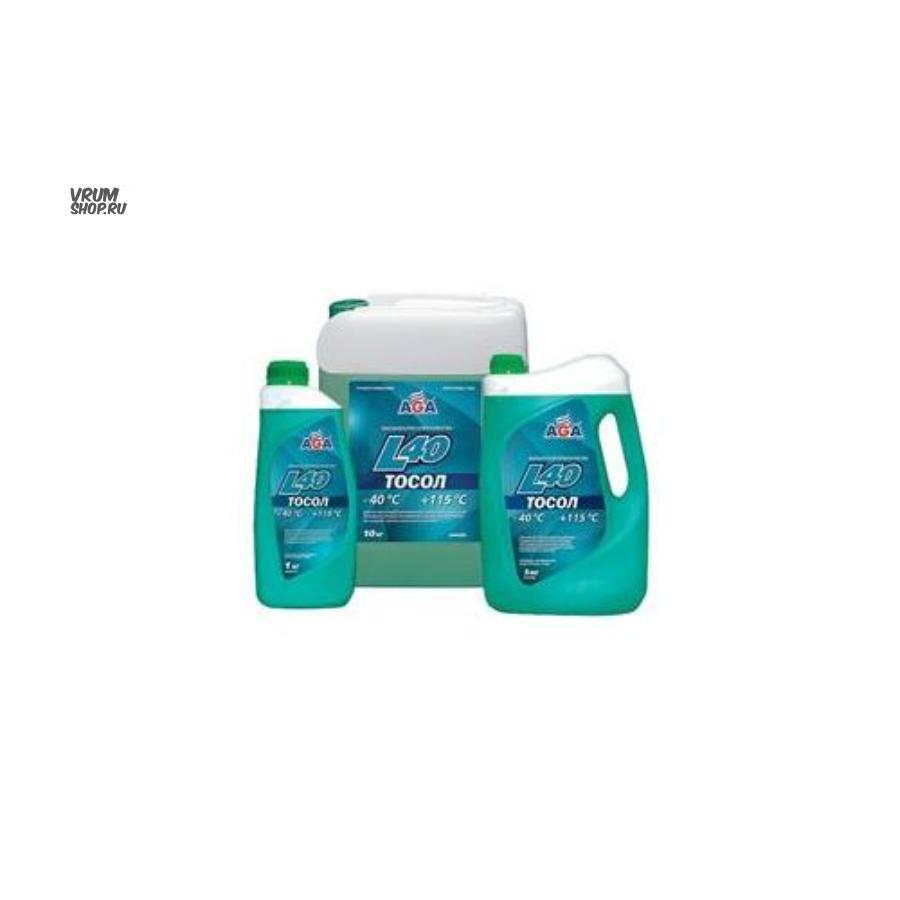 Жидкость охлаждающая ТОСОЛ L40 aga сине-зеленый 5 л g11