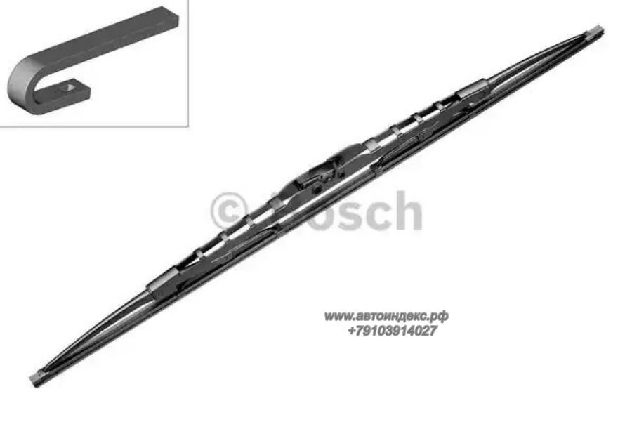 Щетка стеклоочистителя каркасная 700mm, 12x4, 9x4, Pilenga