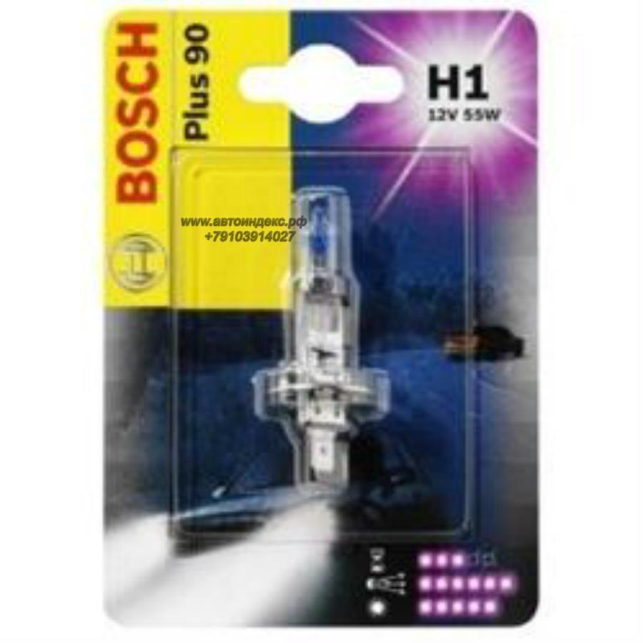 Лампа галоген Plus 90 H1 12В 55Вт