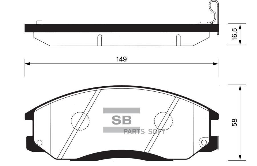 колодки тормозные hyundai/kia H-1/SANTA FE/TRAJET/SSANGYONG REXTON передние
