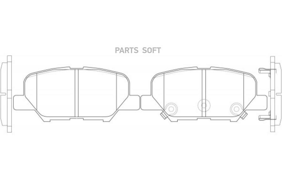 колодки тормозные nibk задние Mazda 6 Mitsubishi Outlander