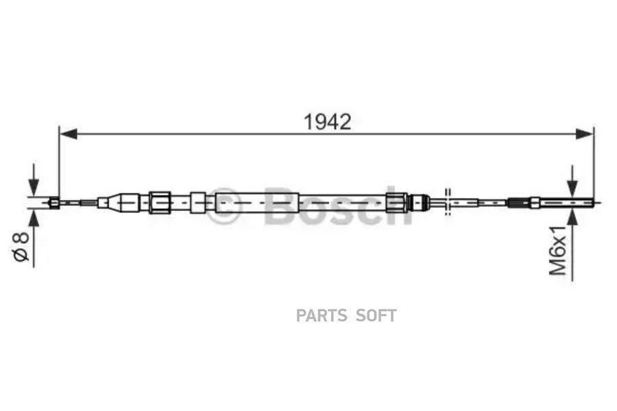 Трос ручного тормоза BMW X5(E53) 1942мм лев./прав.