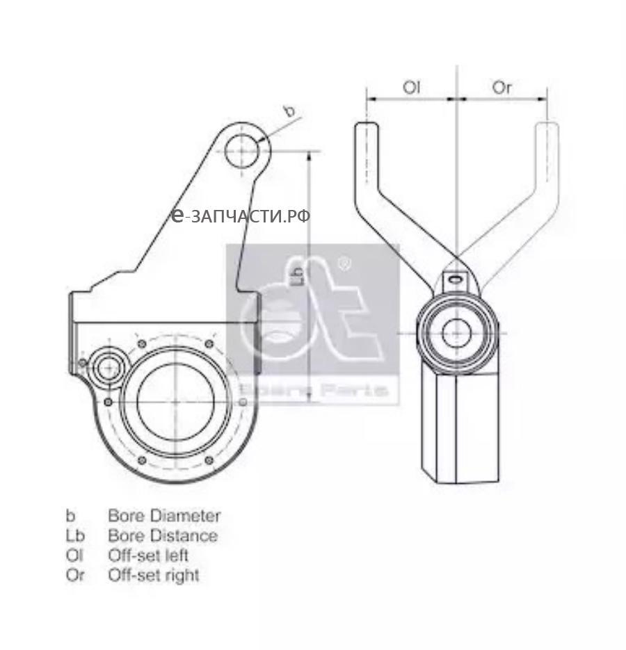 Трещетка передняя левая Scania P/G/R/T Series (автомат) D=38, 10шлиц