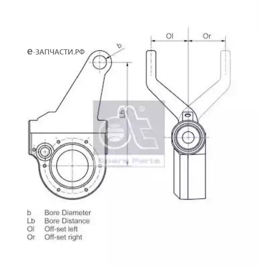 Трещетка задняя левая Scania P/G/R/T Series (автомат) D=38, 10шлиц