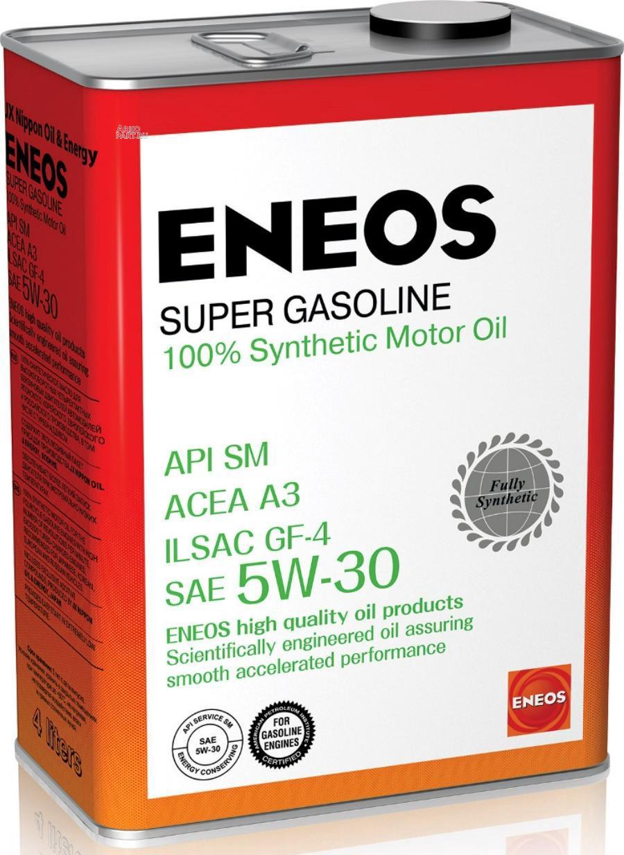 Замена на 8809478942216 Масло моторное синтетическое Super Gasoline SM 5W-30, 4л oil4070 ENEOS OIL4070