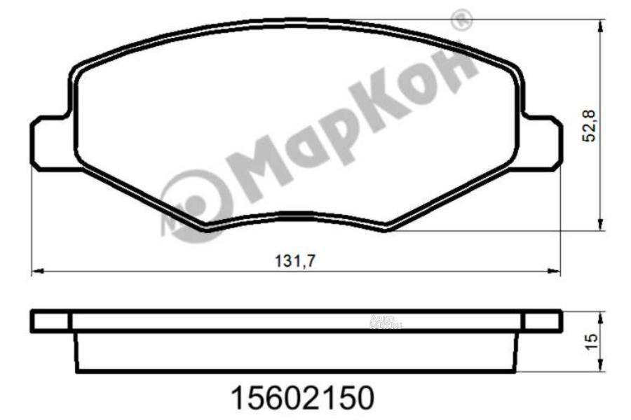 Тормозная колодка 15602150 МарКон