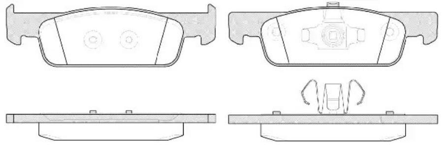 Комплект тормозных колодок